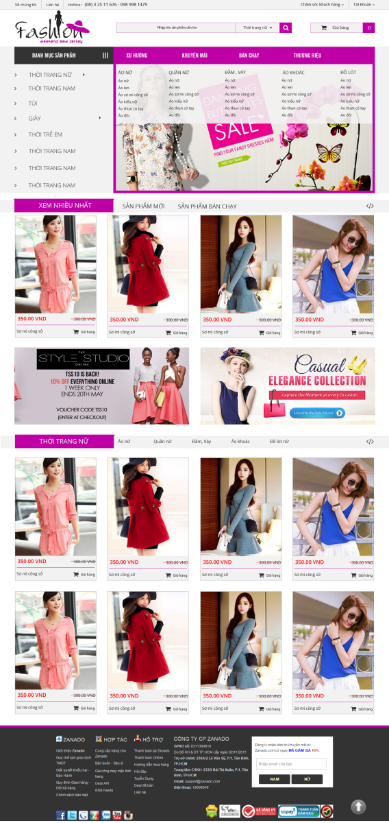 web thời trang
